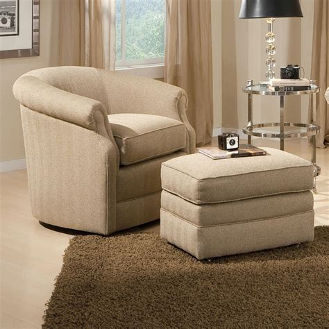 chairs for the living room barrel swivel chair and ottoman with casters by smith