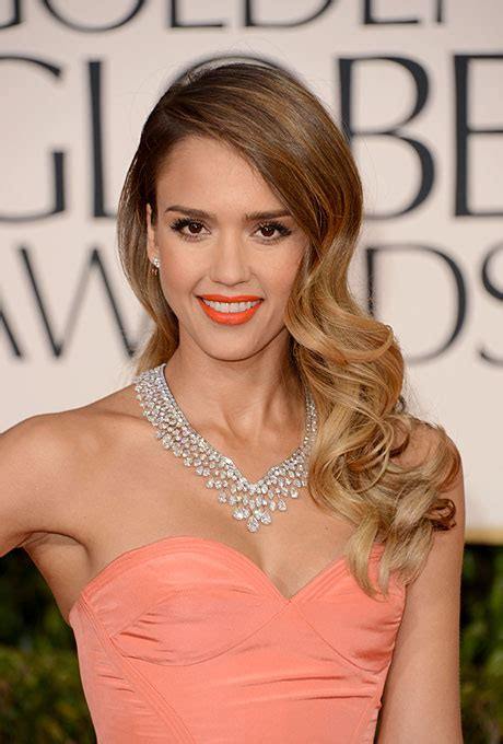 bridesmaid hairstyles jessica alba long ombr 233 wedding hairstyle jessica alba s bouncy long