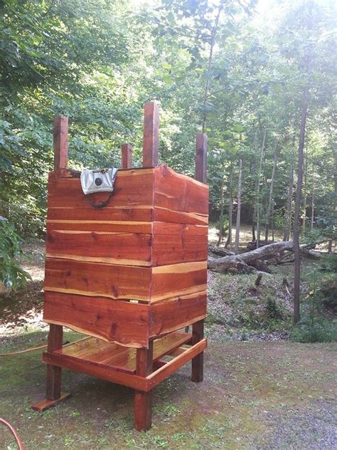outdoor cedar shower outdoor cedar shower with solar shower bag living