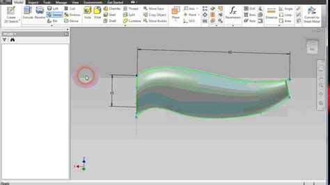 boat hull fusion 360 how to use sweep guide rail for inventor youtube