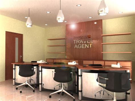 layout of travel agency office lanospace bakery shop and travel agent office with fully