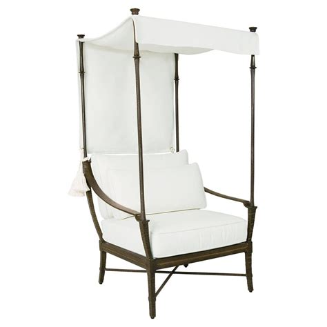 french canopy chair jane modern french white canopy metal outdoor lounge chair