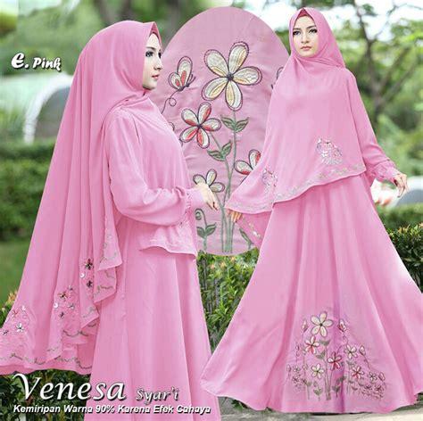 Syari I Pink venesa syari pink model baju gamis terbaru