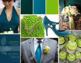 teal wedding colors teal and green wedding wedding colors