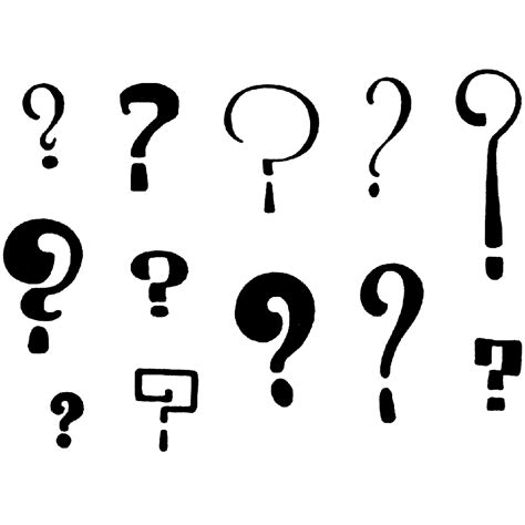 question marks 1236l beeswax rubber stamps