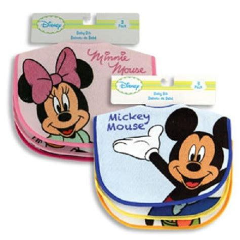 Bibs Set Duck disney mickey minnie mouse donald duck pluto 3 pack