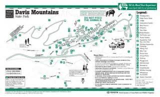 davis mountains state park map davis mountains