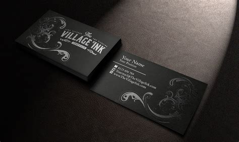 tattoo visiting card design masculine upmarket business business card design for a