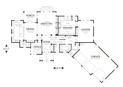 craftsman ranch floor plans craftsman ranch with open floor plan professional builder house plans