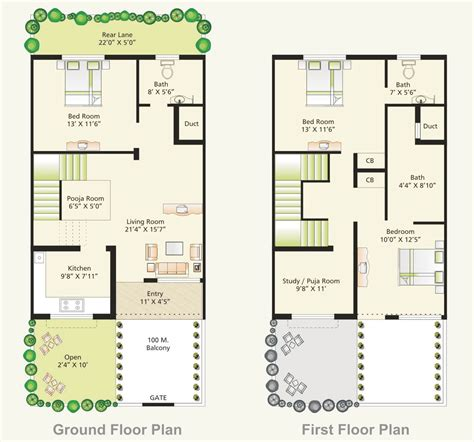 3bhk house plan 3 bhk house plans in india