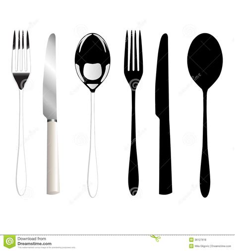 Fork, Knife And Spoon Royalty Free Stock Photos   Image