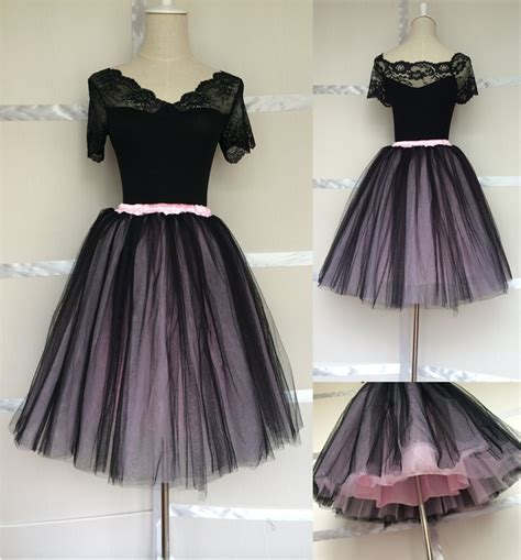aliexpress buy black and pink fluffy tutu skirt for
