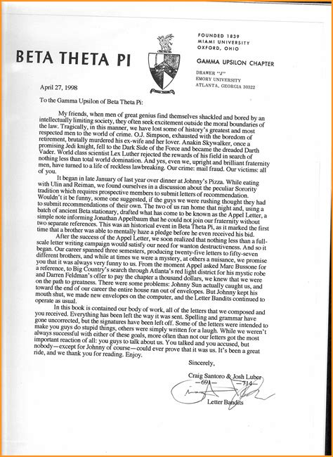 Community Service Recommendation Letter Sorority exles of letter of recommendation how to format cover
