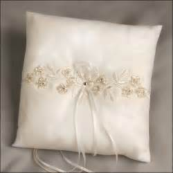 wedding pillow rings decora ivory ring bearer pillow