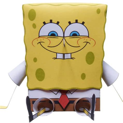 spongebob squarepants paper craft model free printable