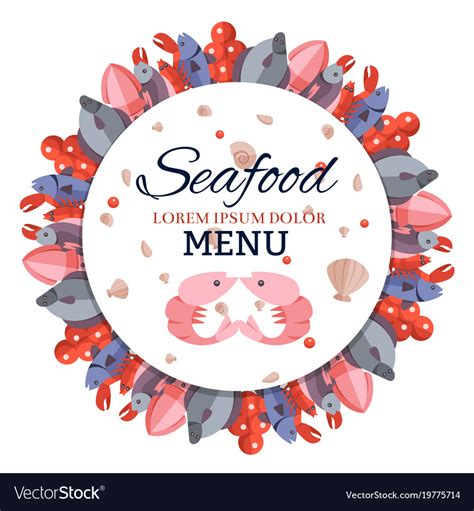 roundhouse stock images royalty free images vectors round banner menu with sea food royalty free vector image