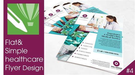 flyer design tutorial corel draw flat and simple healthcare flyer design tutorial in corel