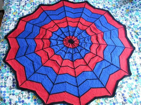 spiderman pattern knitting spiderman blanket free knitting pattern crafts pinterest