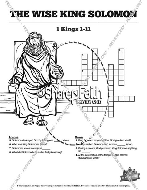 king solomon coloring sheets google search clip art pinterest the wisdom of solomon sunday school crossword puzzles