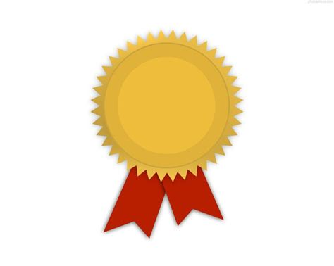 award badge template award metal template gold medal with ribbon