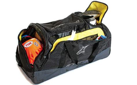motocross gear bag motocross magazine mxa team tested alpinestars xl