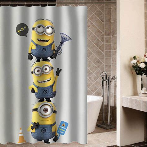 minion curtains despicable me minion 1 custom shower from desemberkah on etsy