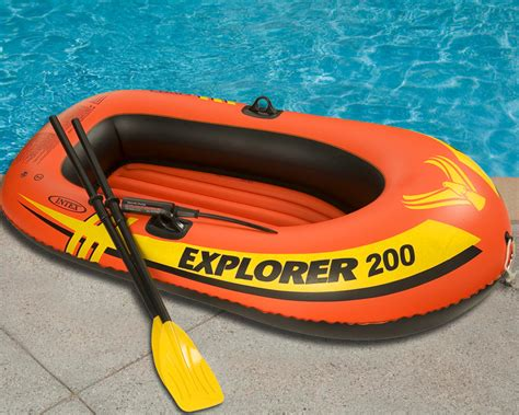 blow up the boat inflatable intex explorer 200 boat set two person blow