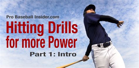 how to get more power in baseball swing baseball hitting drills for power part 1 intro video