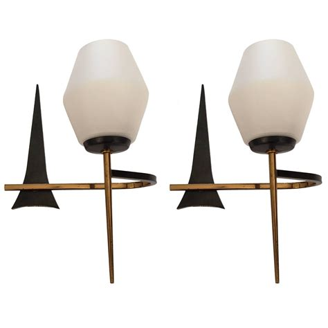 Mid Century Modern Sconce pair of 1950s mid century modern sconces at 1stdibs