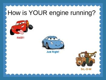 how does a be how does your engine run featuring lightning mcqueen by teachingresourceresort
