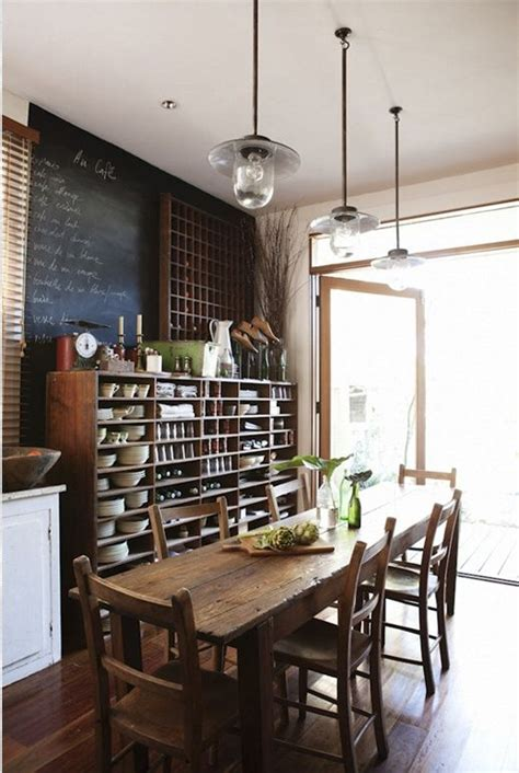 beautiful rustic kitchens on pinterest rustic dining room tables country kitchen designs and from the pendant lights to the rustic kitchen table and