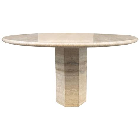 Italy Dining Table Italian Travertine Dining Table At 1stdibs