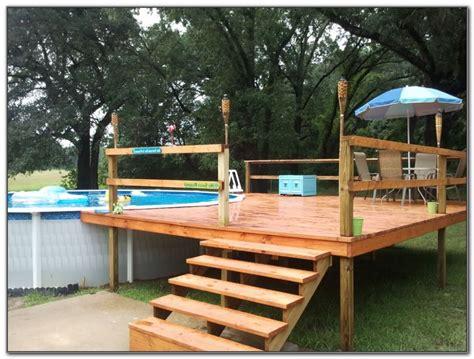 decks amazing  ground pool deck kits