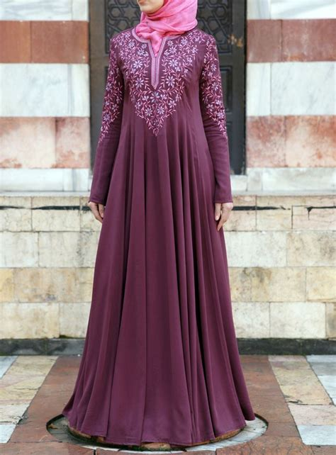 Dress Satin Hijaber Aulia formal abaya designs for style fashion ideas