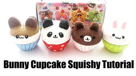 bunny cupcake squishy tutorial