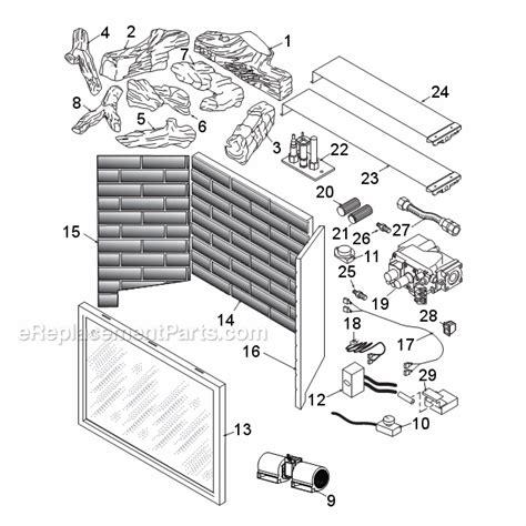 monessen lx36dv parts list and diagram ereplacementparts com