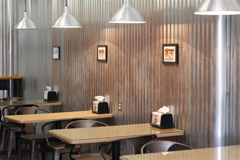 Corrugated Iron Interior Walls by S Sandwich Shop Haddonfield Nj Interior Seating