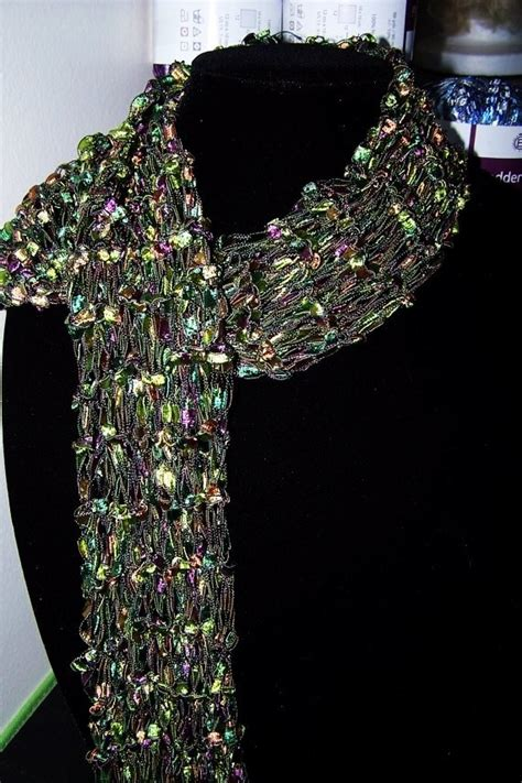 knit scarf pattern ladder yarn green and purple ladder yarn scarf ladder yarn pinterest