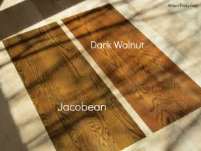 Sample on the color pamphlet i for sure knew i wanted dark walnut
