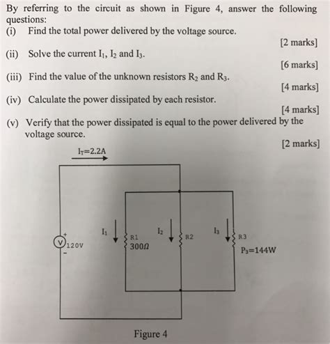 what is the power dissipated by the r3 resistor by referring to the circuit as shown in figure 4 chegg