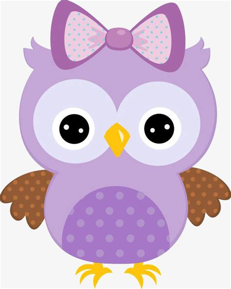 Owl Purple purple painted owl with bow clipart owl