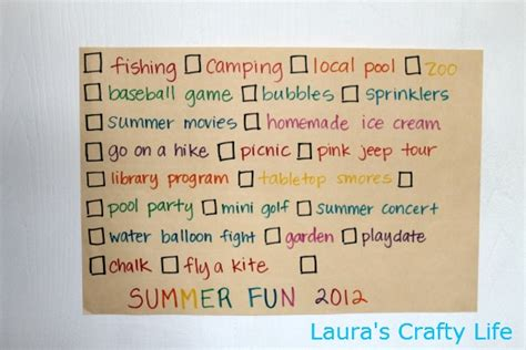 8 Activities To Do During by Summer 2012 S Crafty