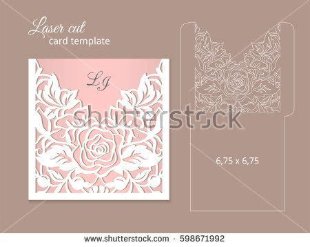 card die cut template laser cut invitation card template wedding invitation