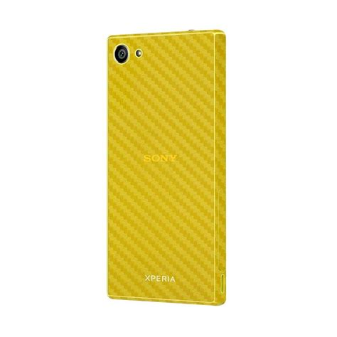 Skin Protector For Sony C5 3m Black Carbon jual premium skin protector sony xperia z5 compact yellow carbon 3m harga
