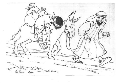 Good Samaritan Helps An Injured Man The Good Samaritan Samaritan Coloring Page