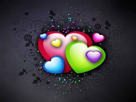 colorful love wallpaper hd hartjes achtergronden hd wallpapers
