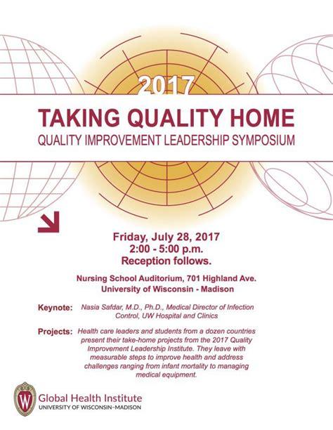 taking quality home 2017 quality improvement leadership