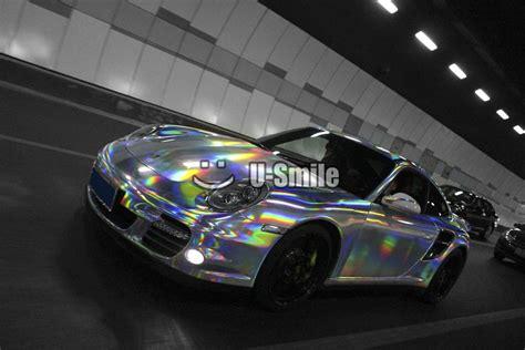 Smile List Chrome Nokia 6 New Silver premium iridescent silver laser chrome vinyl holographic kaleidoscope car wrap free