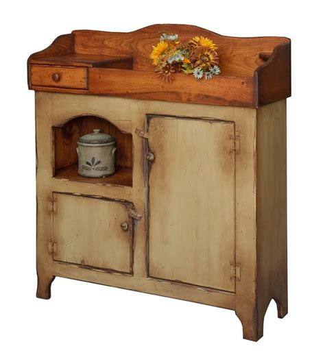 primitive kitchen furniture primitive dry sink storage cabinet cupboard antique look