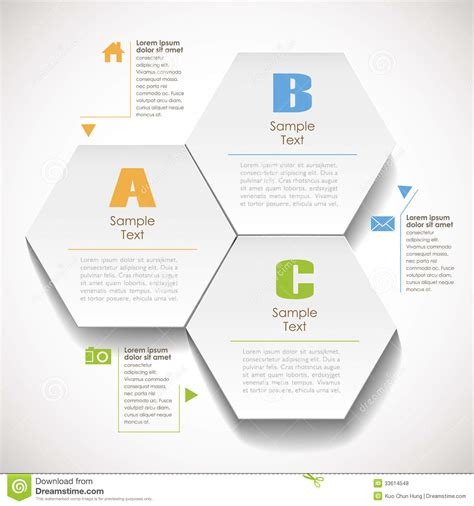 Graphic Design Essays by Abstract 3d Hexagonal Paper Infographic Stock Vector Image 33614548